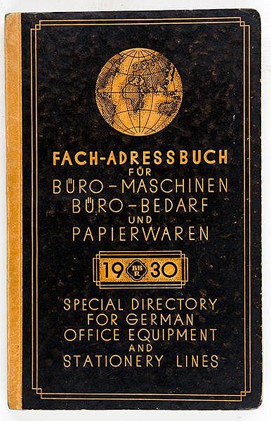 Technik - Büromaschinen - - Fach-Adressbuch für Büro-Maschinen, Büro-Bedarf
