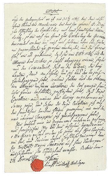 Französische Revolution - - Tiery, Rittmeister. Bericht des Rittmeisters üb