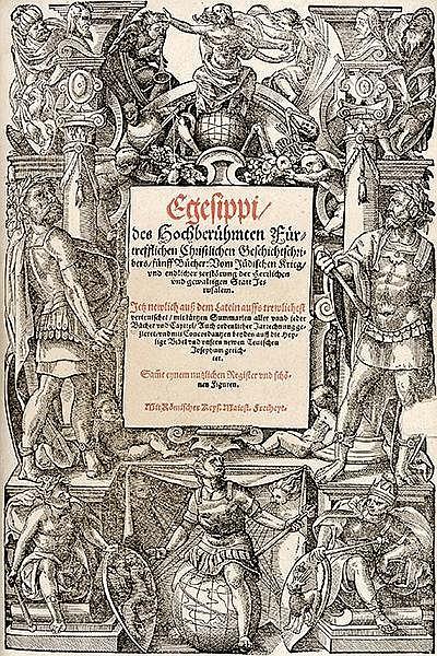 Josephus, Flavius. Historien und Bücher: Von alten Jüdischen Geschichten. (