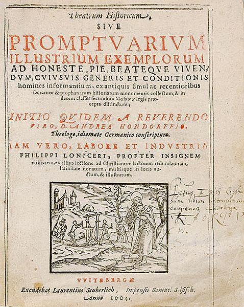 Occulta - - Hondorff, Andreas. Theatrum historicum, sive promptuarium illus