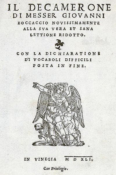 Boccaccio, Giovanni. Il decamerone ... novissimamente alla sua vera et sana