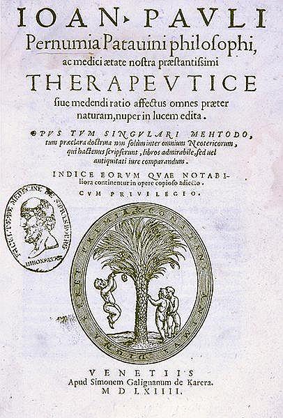 Pernumia, Giovanni Paolo. Therapeutice sive medendi ratio affectus omnes pr