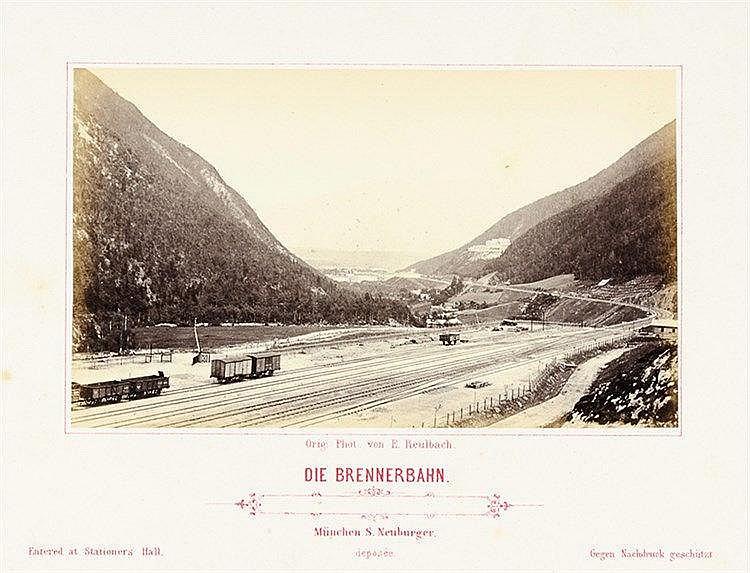 Europa - Alpen - - Die Brenner-Bahn von Innsbruck nach Botzen. Nach der Nat