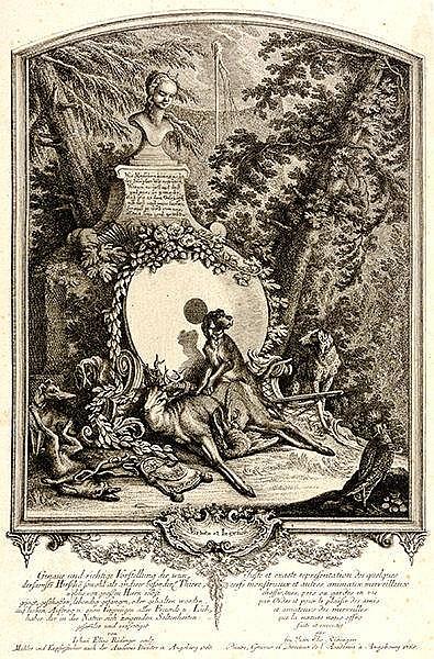 Jagd - - Ridinger, Johann Elias. Genaue und richtige Vorstellung der wunder