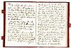Grassi, Joseph. Notizbuch mit 55 eigenhändig beschriebenen Seiten. Eigenhän