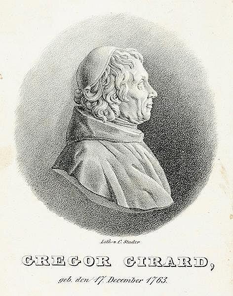 Philosophie - - Girard, Gregoire (eig. Jean Baptiste). Grundriß der Philoso