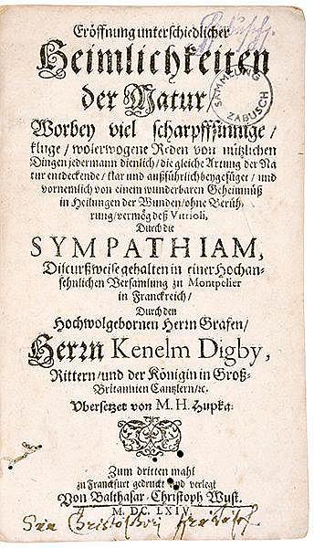 Occulta - Alchemie - - Digby, Kenelm. Eröffnung unterschiedlicher Heimlichk