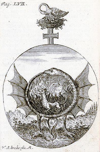Occulta - Alchemie - - Brunnhofer, J.A. Hermaphroditisches Sonn- und Monds-