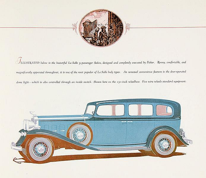 Technik - Automobil - - Cadillac. The Distinguished La Salle V8. Mit 9 farb