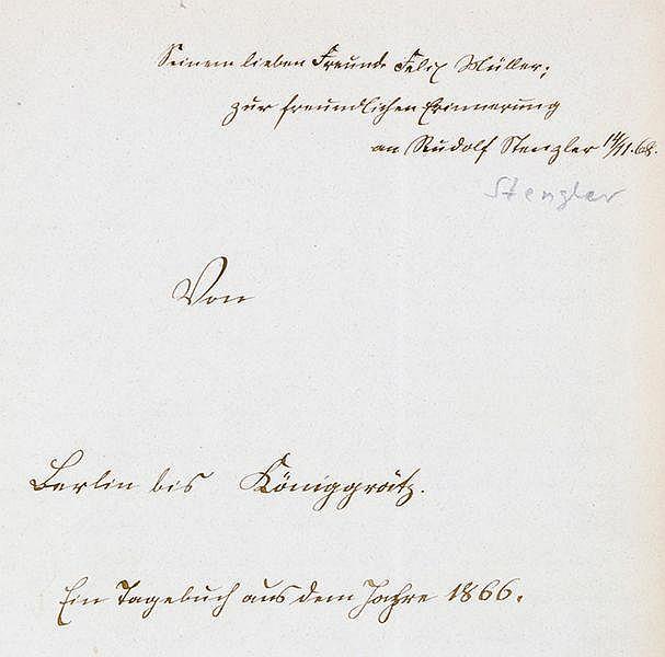 Militaria - - Von Berlin bis Königgrätz. Ein Tagebuch aus dem Jahre 1866. L
