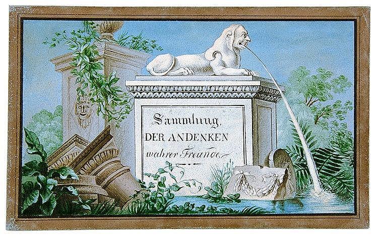 Liber amicorum - - Sammlung der Andenken wahrer Freunde. Mit 10 Aquarellen,