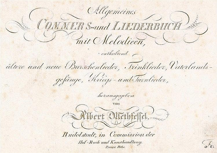 Liederbücher - - Methfessel, Albert (Hrsg.). Allgemeines Commers- und Liede
