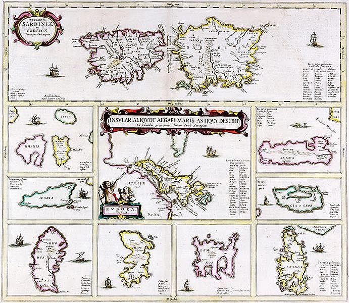 Karten - Mittelmeer - - Janssonius, Joan. Insular aliquot aegaei maris anti