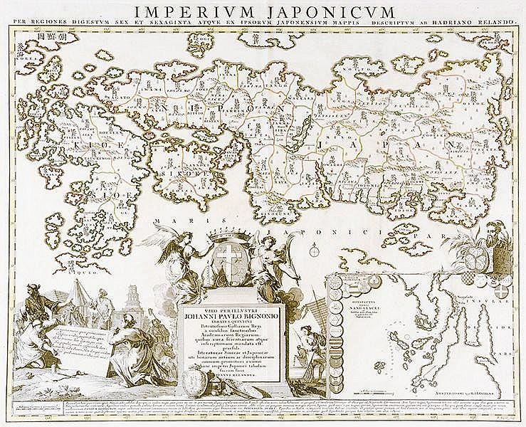 Karten - Japan - - Reland, Adrien. Imperium Japonicum per Regiones digestum