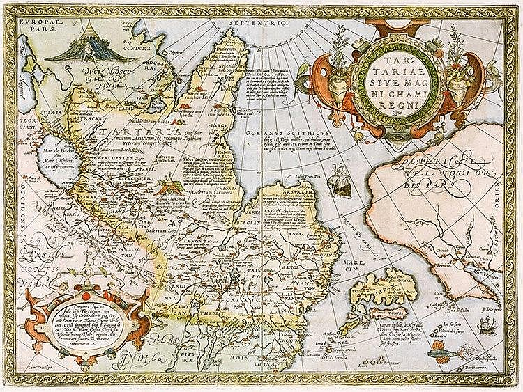 Karten - Asien - - Ortelius, Abraham. Tartariae sive magni chami regni typu