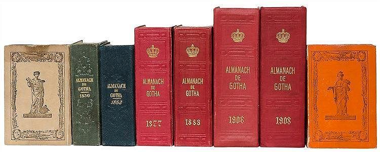 Almanache - - Almanach de Gotha. 71 Bände. Mit zahlreichen Tafeln in versch