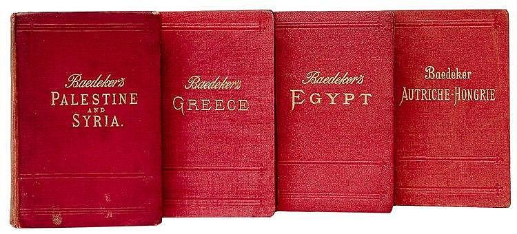 Reiseführer - - Baedeker, Karl. Umfangreiche Sammlung von 548 Baedeker Reis