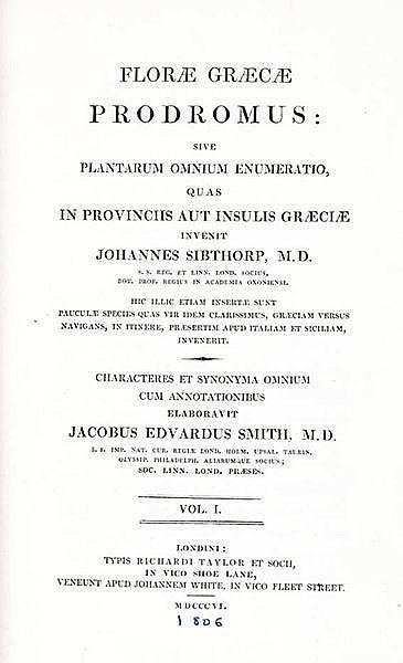 Europa - Griechenland - - Sibthorp, John. Florae grecae prodromus: sive pla