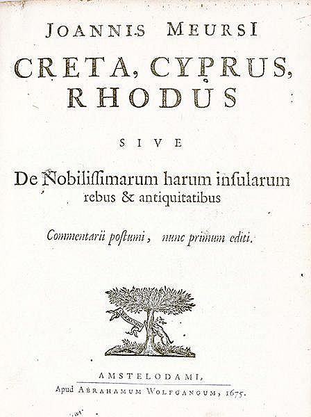 Europa - Griechenland - - Meurs, Jan de. Creta, Cyprus, Rhodus sive de nobi