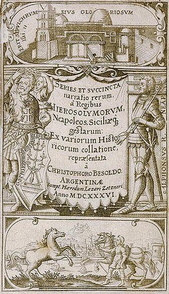 Europa - Italien - - Besold, Christoph. Historiae urbis et regni Hierosolym