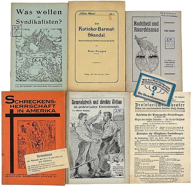 Sozialismus - Kommunismus - Anarchismus - - Sammlung von 12 meist kommunist