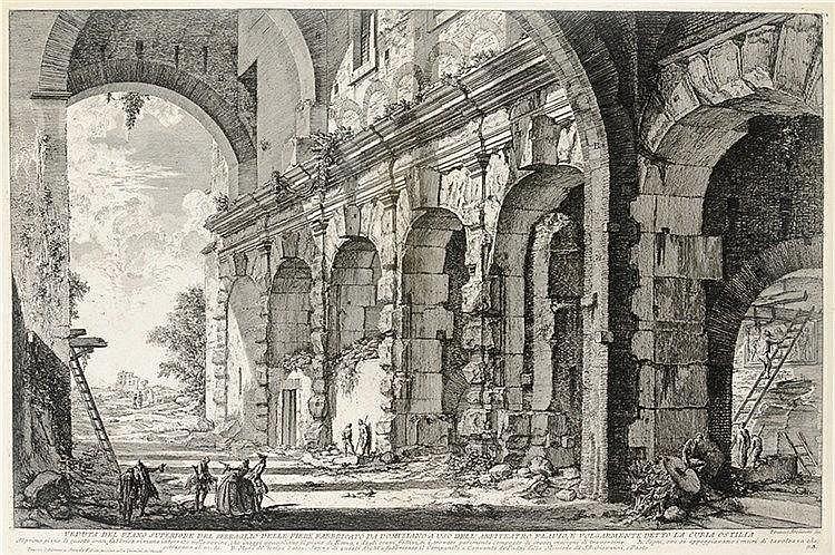 Ansichten - Italien - - Piranesi, Giovanni Battista. Veduta del piano super