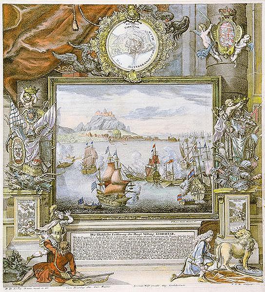 Ansichten - Gibraltar - - Decker, Paul. Die Glückliche Entsezung der Haupt