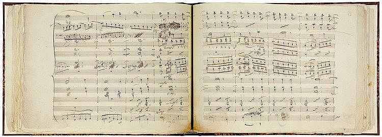 Faksimile - - Beethoven, Ludwig van. Symphonie Nr. 3, Es-Dur, Op. 55,