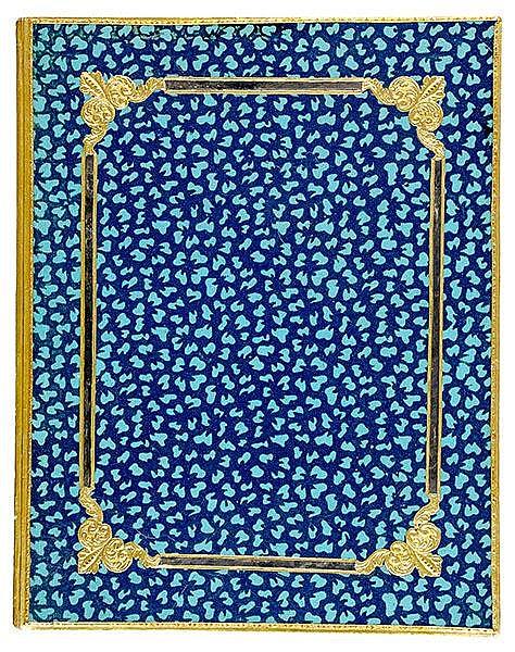 Einbände - - Zweifarbiger, mit Durchbruchs- und Goldbrokat-Papier-Ornamente