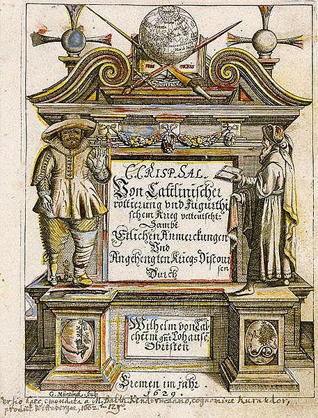 Barockliteratur - - Sallustius Crispus, Gaius. Von Catilinischer rottierung