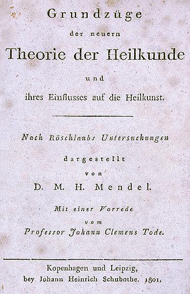 Medizin - Homöopathie - - Mendel, M. H. Grundzüge der neuern Theorie der He