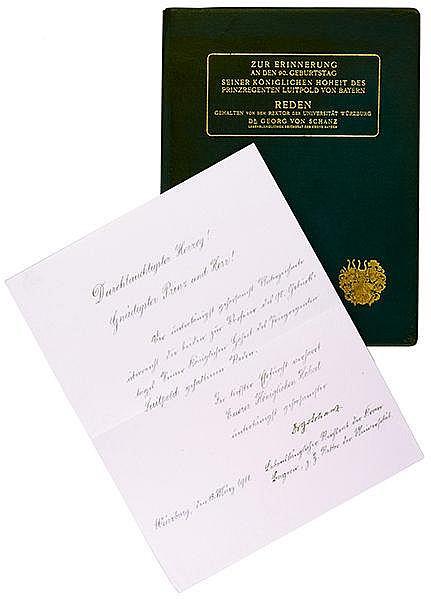 Deutschland - Bayern - - Schanz, Georg von. Zur Erinnerung an den 90. Gebur