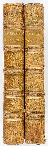 Lessing, Gotthold Ephraim. Hamburgische Dramaturgie. 2 Bände. Mit 2 gestoch