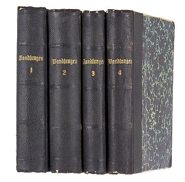 Lewald, Fanny. Wandlungen. 4 Bände. Braunschweig, Vieweg, 1853. 15,4 x 10,5