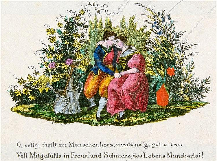 Liber amicorum - - Album I. W. L. Linzer Freundschaftsalbum. Mit 2 Aquarell