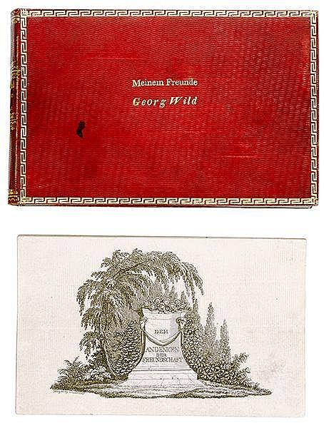 Liber amicorum - - Dem Andenken der Freundschaft. 49 gestochene Albumblätte