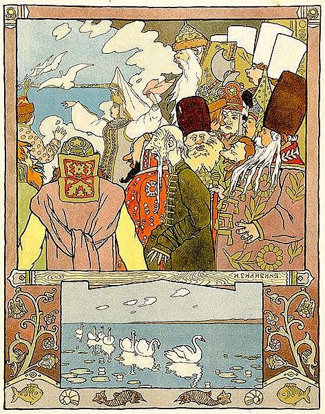 Russische Kinderbücher - - Bilibin, Iwan. Zarewja Ljaguschka (Fröschlein-Za