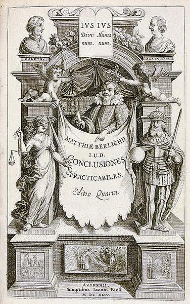 Rechtswissenschaft - - Berlich, Matthias. Conclusionum practicabilium, secu
