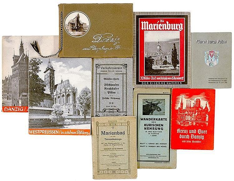 Europa - Ostpreussen - - Sammlung von 13 kleinen Reiseführern, Plänen, Bild