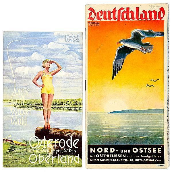 1084-6Europa - Ostpreussen - - Sammlung von 11 kleinen Reiseführern, Plänen
