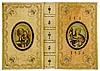 Einbände - - Ganzpergament mit floraler Deckelvergoldung, zwei montierten u