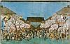 Asien - Japan - - Hiroshige, Utagawa. 3 Farbholzschnitte aus verschiedenen