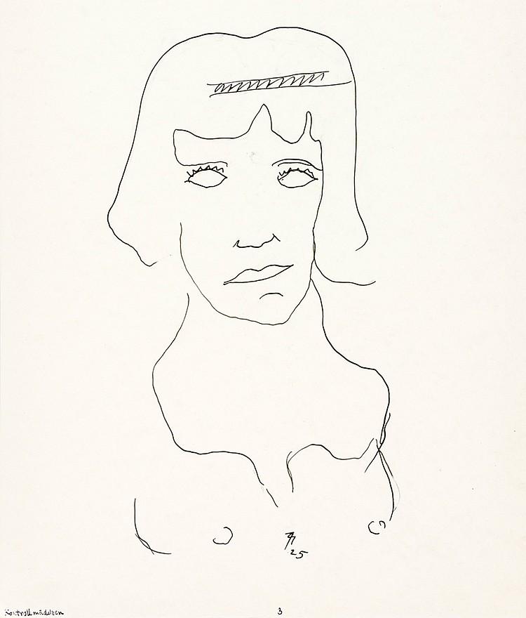 Maatsch, Thilo. Sammlung von 4 Tuschzeichnungen auf 3 Blatt. Alle Arbeiten