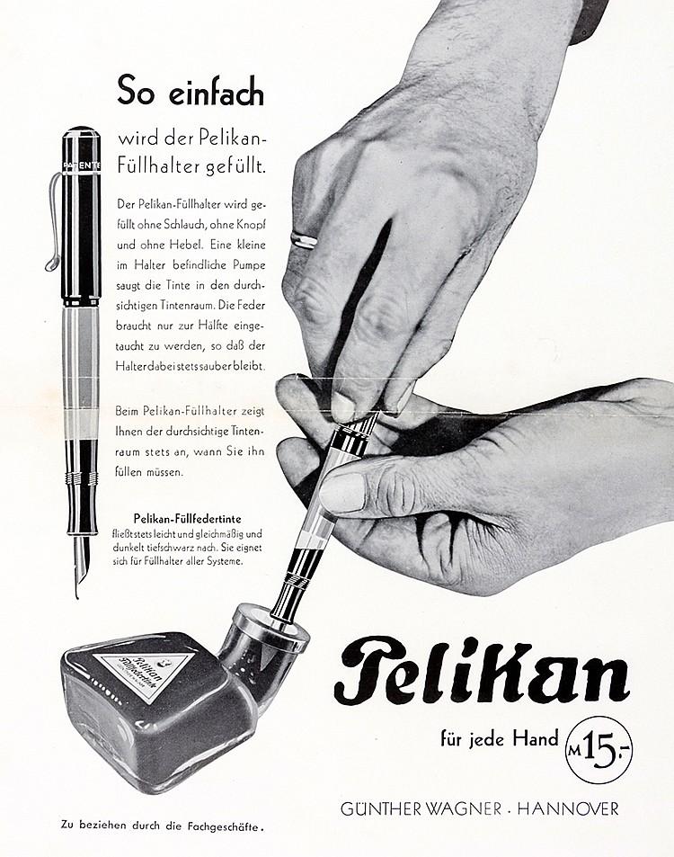 Werbung - - Pelikan für jede Hand. So einfach wird der Pelikanfüller gefüll