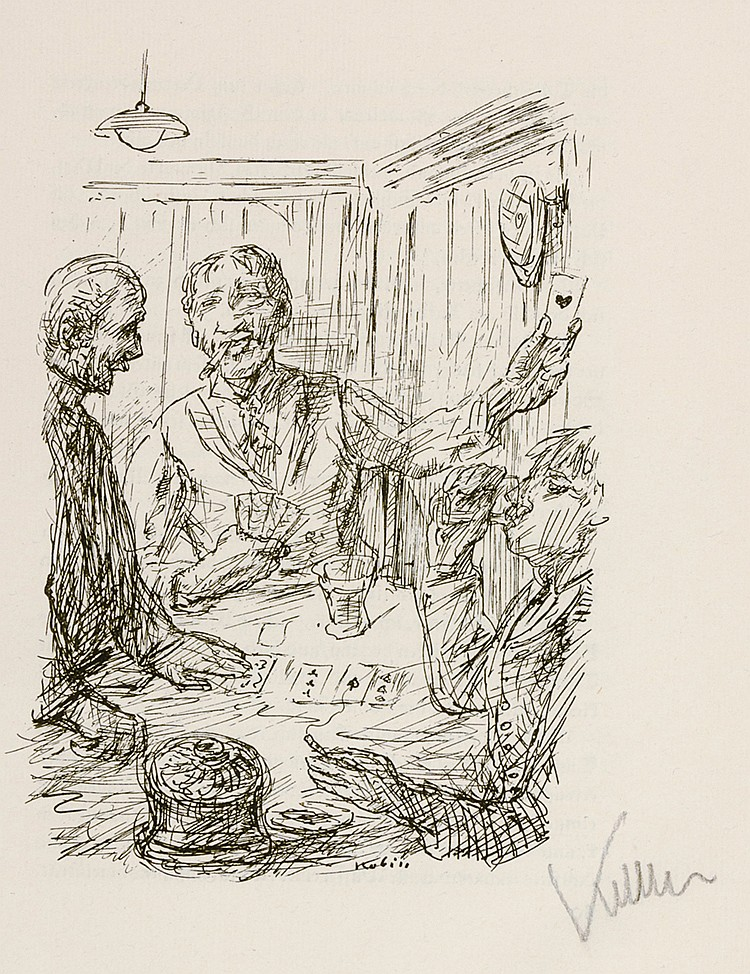 Kubin, Alfred - - Hauptmann, Gerhart. Fasching. Mit monogrammierter lithogr