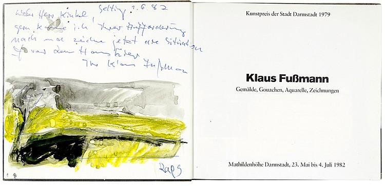 Fussmann, Klaus - - Sammlung von 14 (davon 2 mit Original-Bleistiftzeichnun