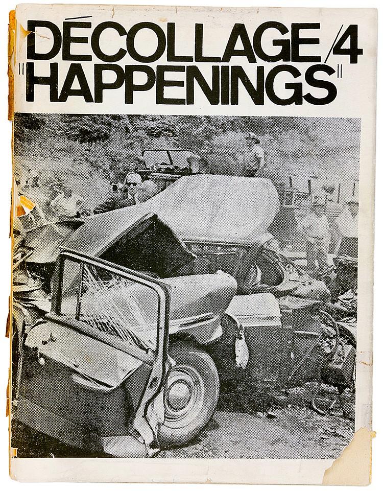 Fluxus - - décollage No 4. 1964. Bulletin aktueller Ideen. Redaktion: Wolf