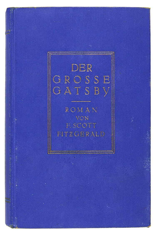 Fitzgerald, F. Scott. Der grosse Gatsby. (Aus dem Amerikanischen übertragen