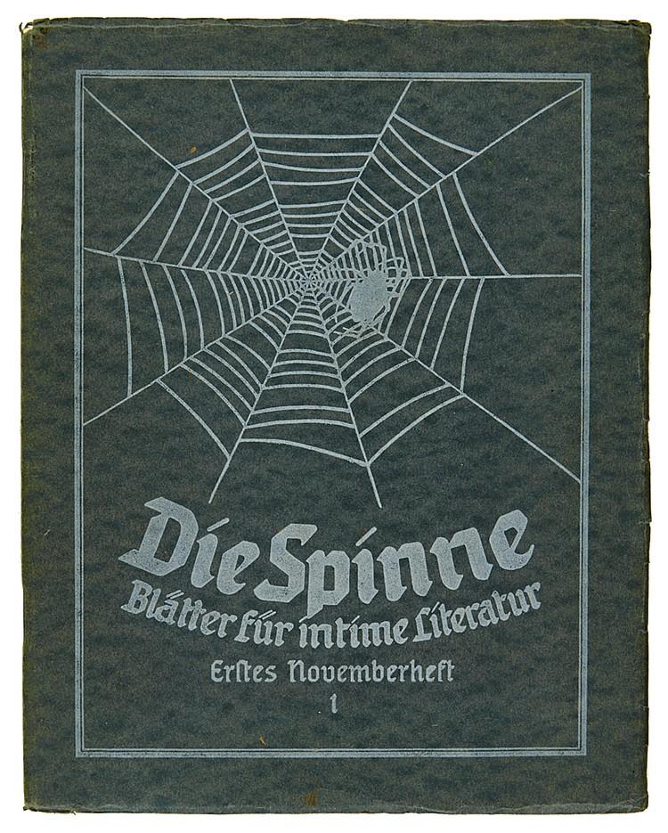 Zeitschriften - - Die Spinne. Blätter für intime Literatur. Herausgegeben v