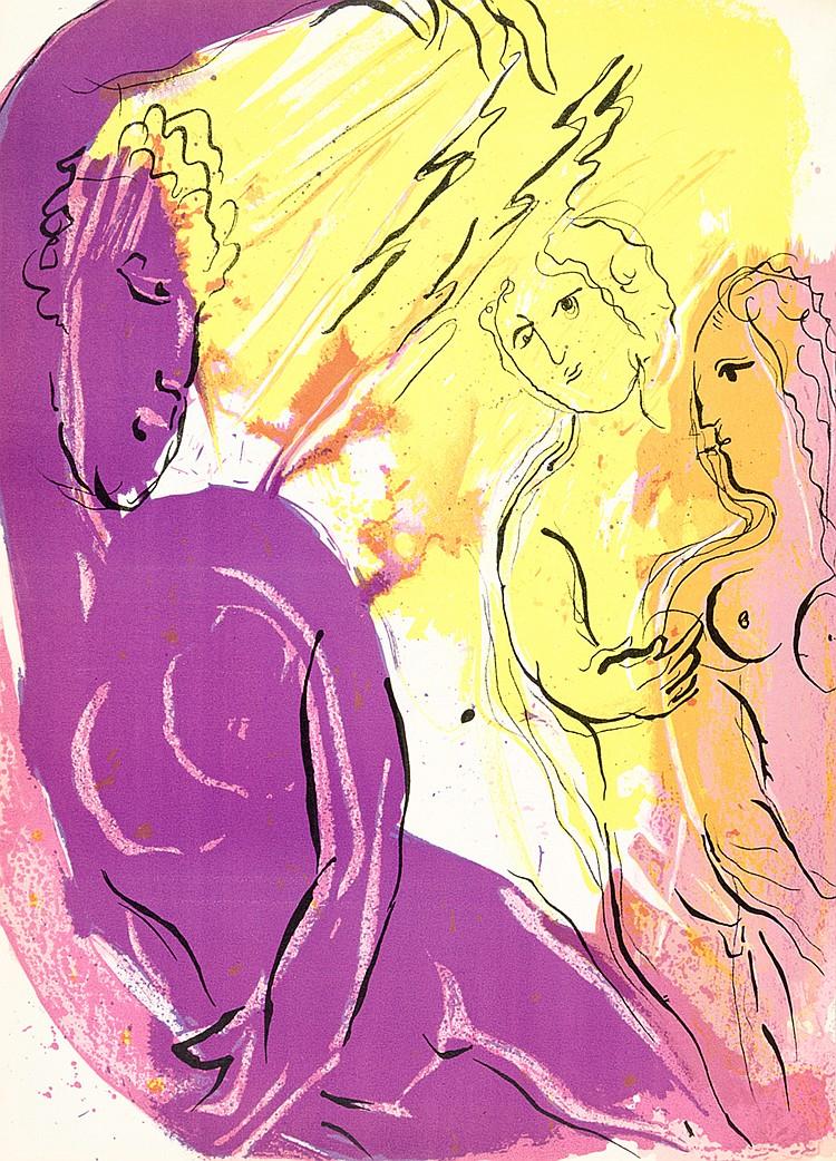 Chagall, Marc. Bible. Mit 30 (inklusive Einband; 18 farbigen) Original-Lith